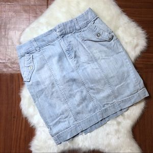 A.N.A Light Wash Pencil Denim Jeans Skirt